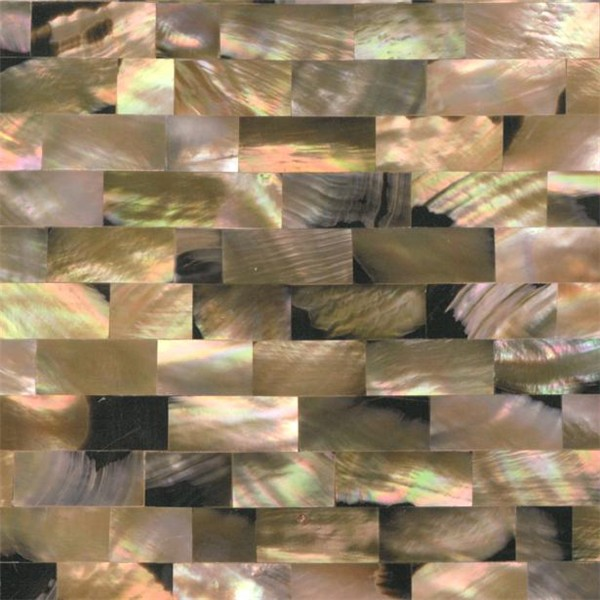 mother of pearl shell tile brown lip with reasonable price and high quality