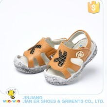 Newest Summer hot sale Genuine Leather baby sandle Breathable Outdoor Rubber Sole shoes forbBaby Boys