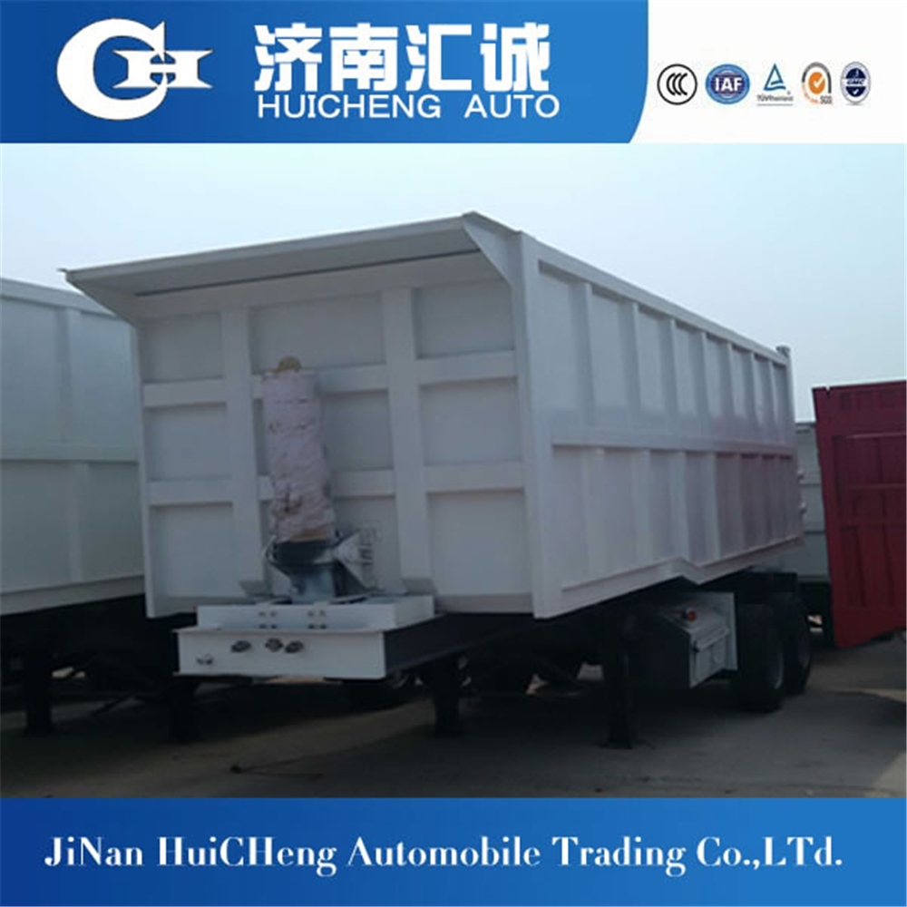 hot sale 100 ton rear dump truck semi trailer