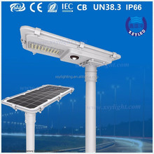 2400 lm 15w all in one solar led street lights with Li-Fepo4 battery