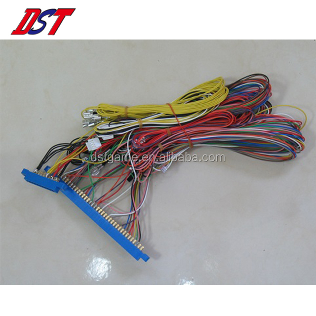 Taiwan High quality Blue connector jamma wiring cable harness for game machine
