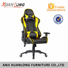 Ergonomic Adjustable Gaming Chair Racing Style High Back Swivel Chair with Headrest Pillow And Lower Back Support
