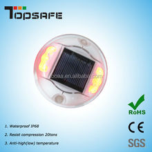 Solar LED Round Polycarbonate Road Stud Deck Dock Path Light