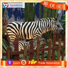 SANHE ROBOT Natural Garden Decoration large fiberglass animal Zebra statues