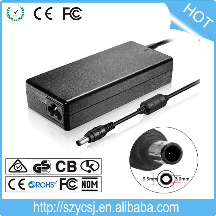 Laptop AC Adapter Power Charger For Samsung R20 R25 R40 R45 19V 4.74A 5.5*3.0mm 90W