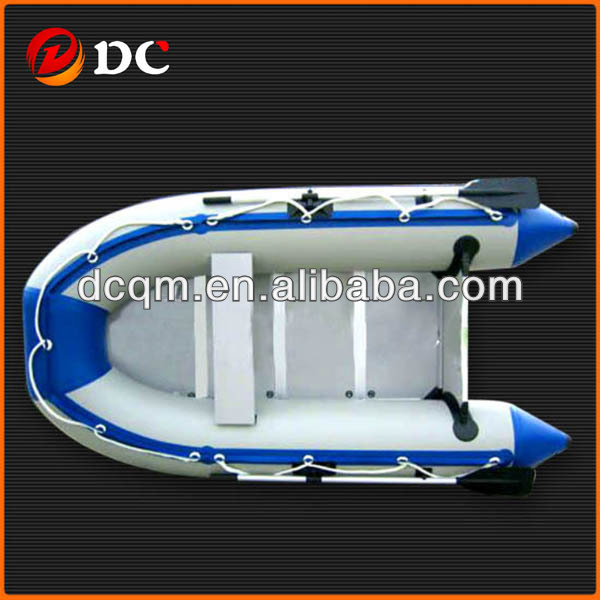 Small Gray Fishing Inflatable Rubber Boat