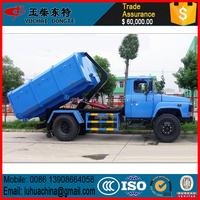 Top selling hook arm garbage truck, hook lift containers for sale, rear loader garbage truck