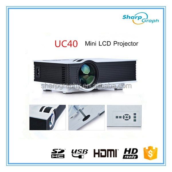 Wholesale UNIC Mini Portable 800 Lumens Sake Cheap LED Projector UC40+ d800 LED 1080p Mini projector