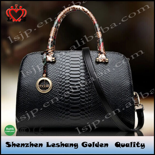 2014 Genuine Snake Skin Leather Handbag/Tote Bag