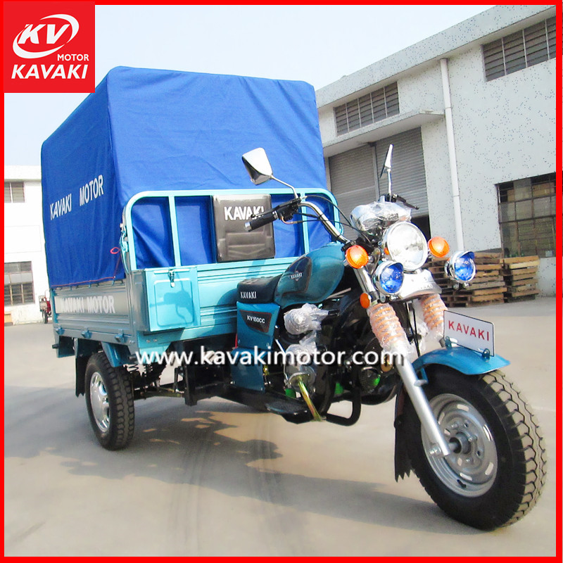Togo Hot Selling 500KG Loading Three Tyres Cargo Moto Cycle With Rear Waterproof Canvas