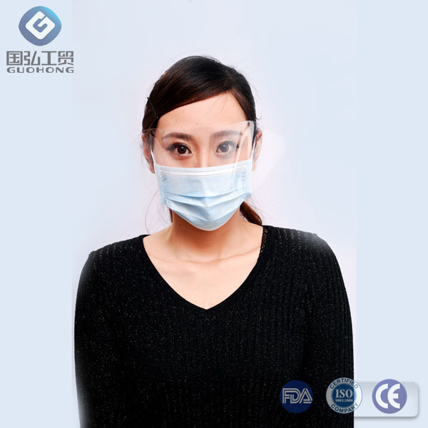 transparent face mask with eye shield for food service