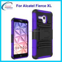 Factory price holster belt clip combo mobile phone case for Alcatel one touch fierce XL