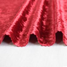 Customizable Shiny luxury 100 polyester 300gsm red crushed velvet