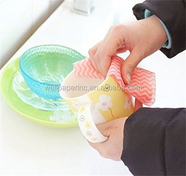 Reusable Cleaning Cloths Disposable Kitchen Paper Towels Nonstick Wiping Rag House Cleaning Washcloth
