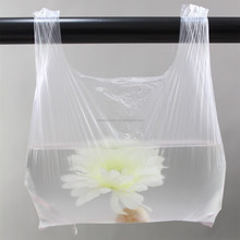 20mic t-shirt bags white transparent food plastic packaging