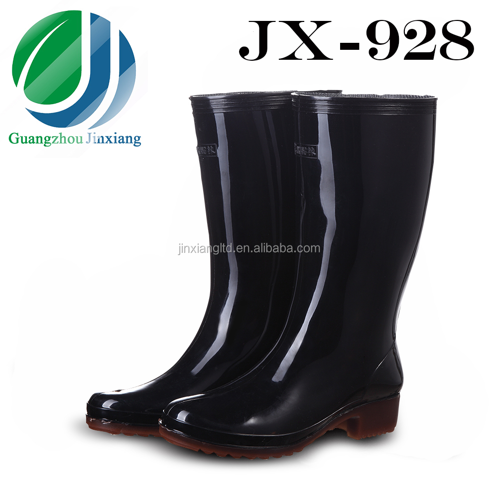 colored women fashion pvc rain boots JX-928