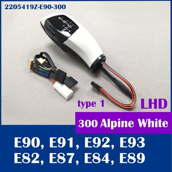 (Free shipping) for BMW E90 E91 E92 E93 E81 E82 E87 E88 E89 Alpine white 300 LED shift knob gear selector Automatic LHD