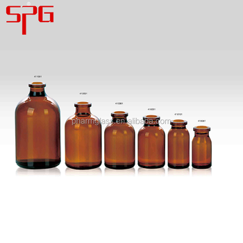 2016 hot selling low price Good quality and best price Borocilicate glass vials in amber color