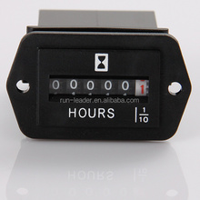 Mechanical 99999 Hour Meter counter 12V for gas engine diesel generators electric motors forklift golf cart tractor marine truck