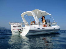 520 CE hot sale double hull fiberglass high quality PVC or Hypalon inflatable RIB boat
