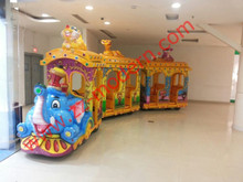 Christmas Elephant Kids amusement park track train for sale