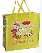 glossy lamination pp woven shopping bag