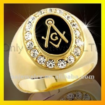 new design top CZ silver jewelry silver masonic ring