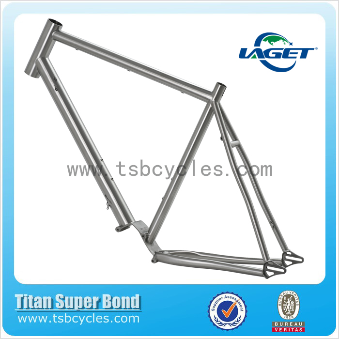 Fast delivery chinese factory titanium Cycle Cross Bicycle Frame with high quality