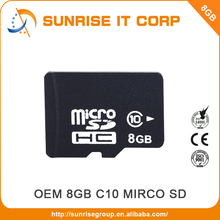 Wholesale oem high speed class 10 micro memory sd card 8gb