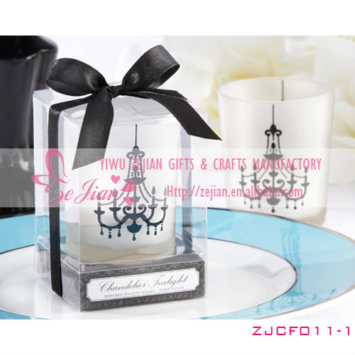 Chandelier Frosted-Glass Tealight Holder/Wedding & Party Favour