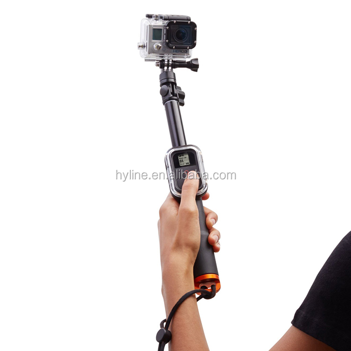 GoPro Remote Pole 98cm Handheld Monopod With WIFI Remote Housing And Tripod Mount Adapter For Gopro Hero 4 3+/3/2 Sport Camera