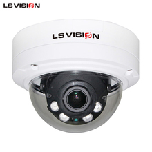 LS VISION IP66 Wall-mounted High Resolution RJ45 POE P2P Varifocal Dome IP Color Camera
