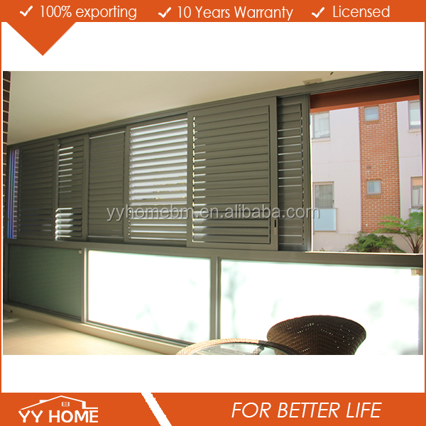YY Home NEW design personal sun shades with adjustable blade Aluminum sliding louvre