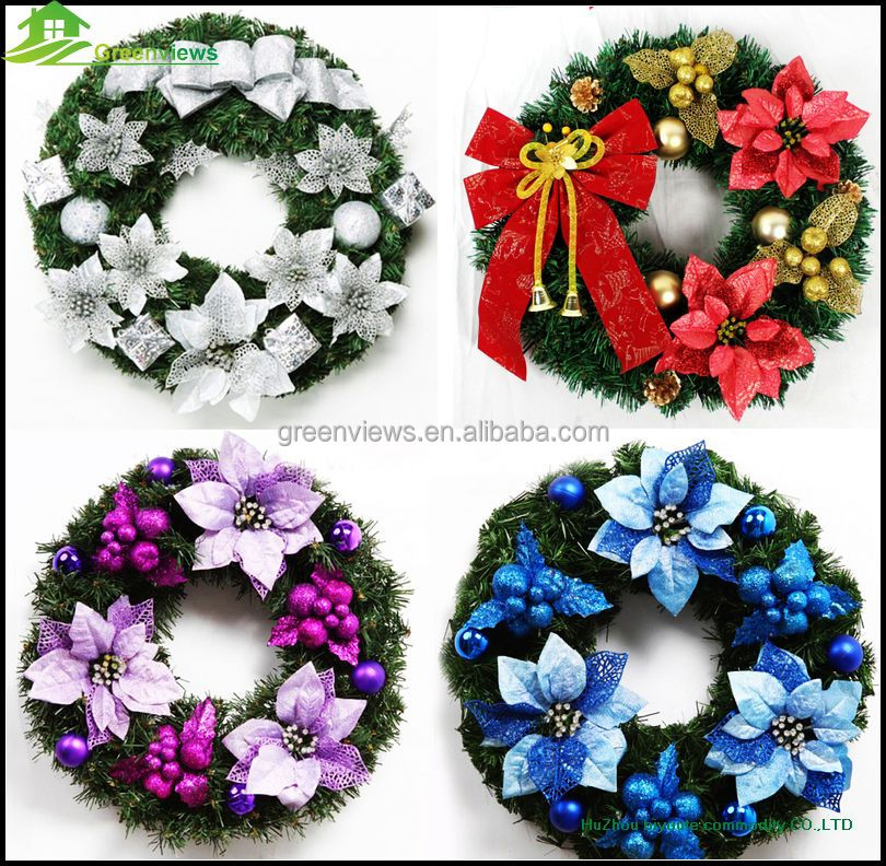 Plastic Custom Christmas wreath PVC PE wreath for Christmas Decoration Christmas Wreath