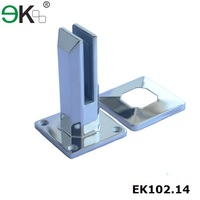 Stainless steel square base plate spigots for concrete garden bridge