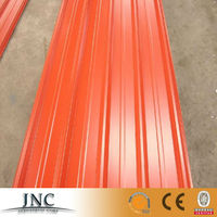2015 Hot sales zinc aluminium color coated corrugated /waved prepainted steel roofing sheet price per sheet