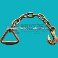 chain sling with delta ring and grab hook each on the end