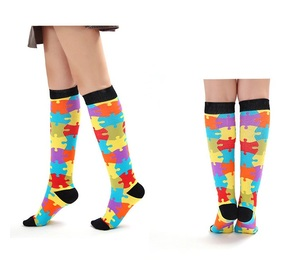 Cartoon tube nylon thigh high young boy tube compression socks
