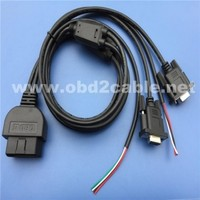 Custom cars diagnostic tool obdii interface to 2*RS232 +obd open cable