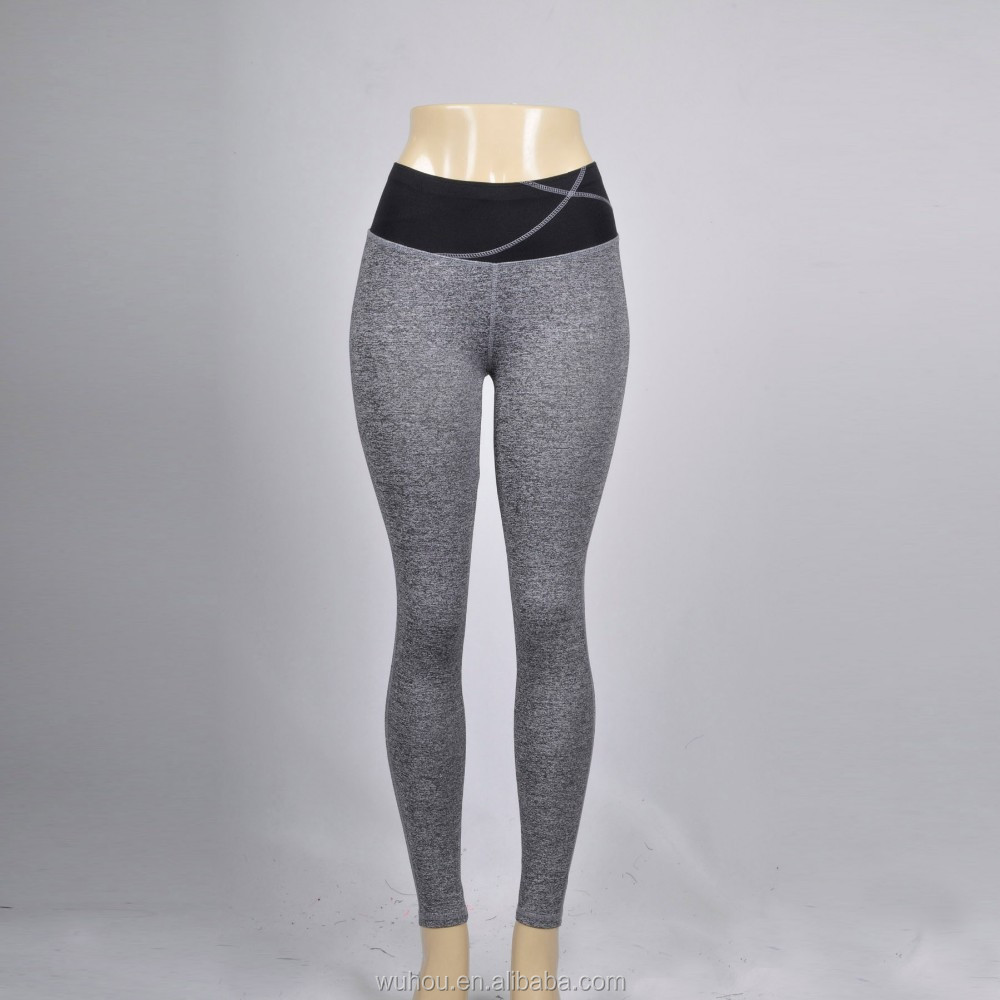 2016 Women's sports yoga pants Contrast Gym Slim leggings
