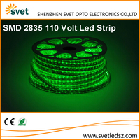 110 Volt Turquoise Led Light Strip Storefront AC 110 Volt SMD 2835 6mm PCB 120Leds Green Color 2 Years Warranty