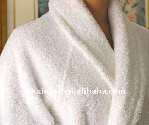 100% Cotton wholesale Hotel Terry Bathrobe for men and women