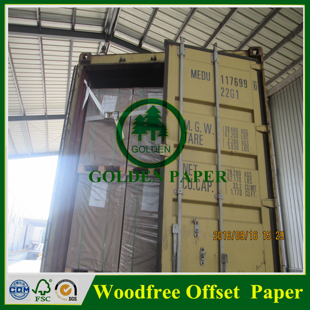 60g 80g uncoated woodfree paper offset printing in sheet or reel
