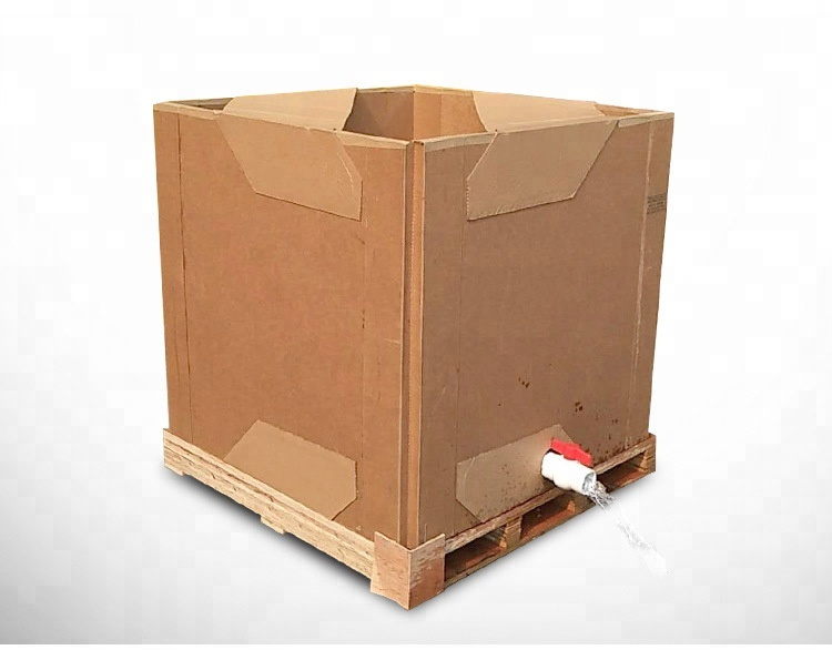 Water Based Paints Packaging Corrugated Carton IBC with Pallet Paper IBC <strong>Container</strong>