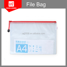 wholesale a4 PVC document storage bag/PVC mesh bag PVC Mesh zipper bag for sale