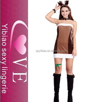 wholesale cosplay costume brown beauty women sexy animal costumes