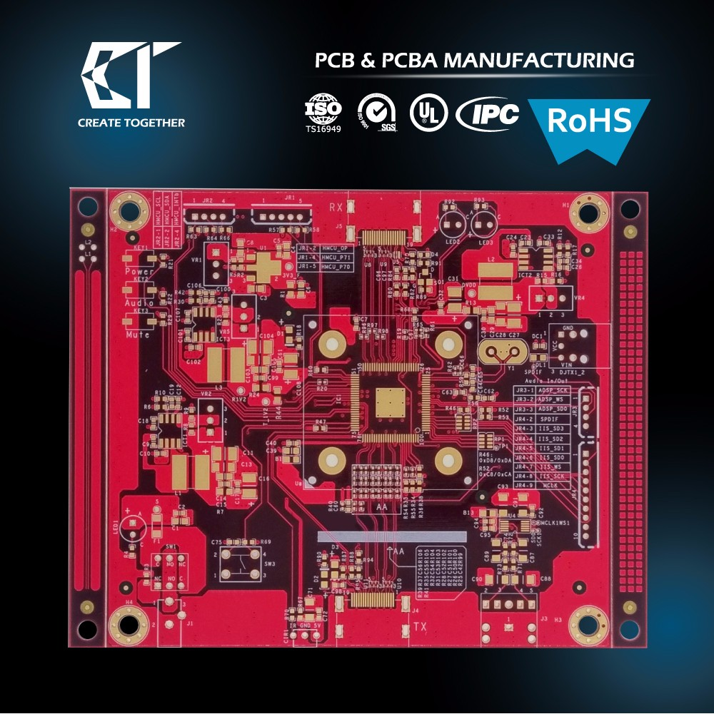 Taiwan manufacturer Custom prototype 94v0 circuit board pcba assembly pcb with rohs ru