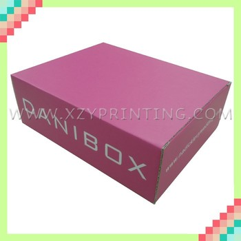 Full color printing corrugated paper express box