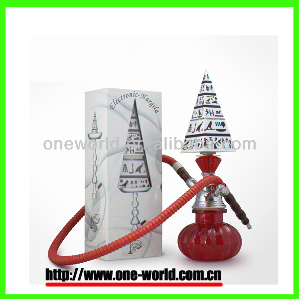 Newest disign pyramid premium world's first real electric sapphire hookah