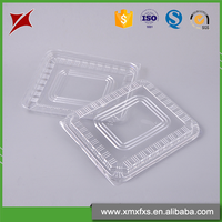 Quality assurance disposable ps blister plastic food container with lid